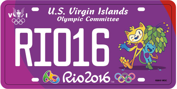 2016 Rio Olympic Plate